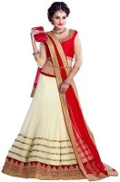 Manvar Enterprise Chaniya, Ghagra Cholis - Manvar Enterprise Embroidered Women's Lehenga, Choli and Dupatta Set(Stitched)