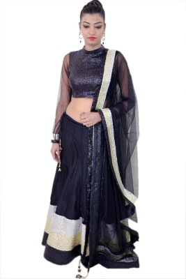 Embellish outfits Self Design Women's Lehenga, Choli and Dupatta Set