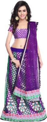 Vogue Era Embroidered Women's Lehenga, Choli and Dupatta Set