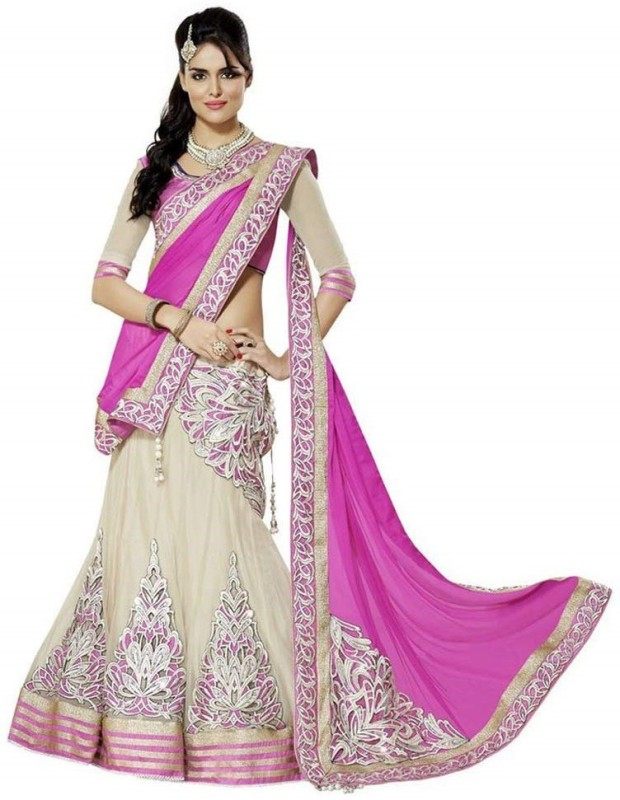 Cheshta Creation Embellished Women's Lehenga Choli(Stitched)