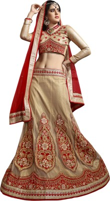 Aasvaa Embroidered Women's Lehenga, Choli and Dupatta Set
