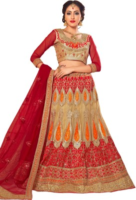 Manvaa Embroidered Womens Lehenga, Choli and Dupatta Set