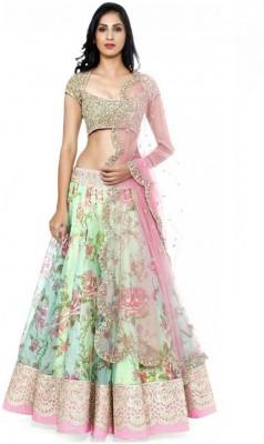 royal fashion hub Embroidered Women's Lehenga, Choli and Dupatta Set