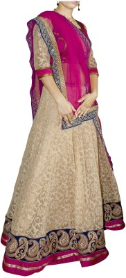 Anishu Fashion Self Design Women's Ghagra, Choli, Dupatta Set