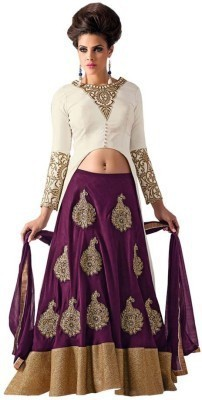 Khushali Collection Embroidered Women's Lehenga, Choli and Dupatta Set