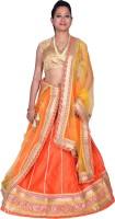 Kaaj Designs Chaniya, Ghagra Cholis - Kaaj Designs Embroidered Women's Lehenga, Choli and Dupatta Set(Stitched)