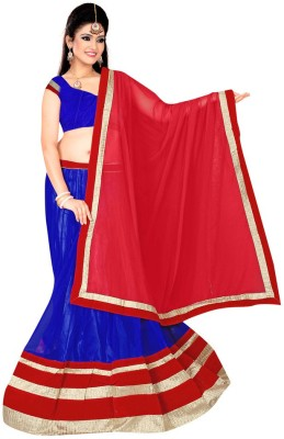 Dancing Girl Striped Women,s Lehenga, Choli and Dupatta Set