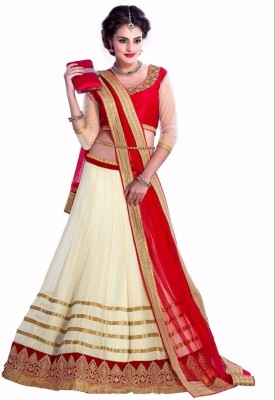 asyour Embroidered Women's Lehenga, Choli and Dupatta Set
