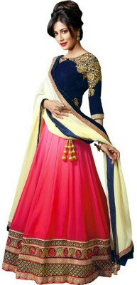 Giftsnfriends Embroidered Women's Lehenga, Choli and Dupatta Set