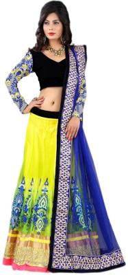 Rhythm Fashion Self Design Women,s Lehenga, Choli and Dupatta Set