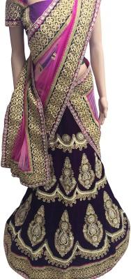 Prachi Silk Mills Embroidered Women's Lehenga, Choli and Dupatta Set