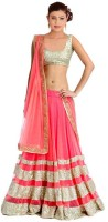 Ecom Exports Chaniya, Ghagra Cholis - Ecom Exports Embroidered Women's Lehenga, Choli and Dupatta Set(Stitched)