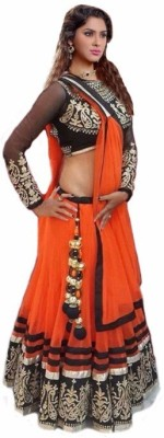Shreeji Enterprise Net Solid Semi-stitched Lehenga Choli Material