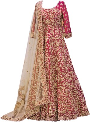 Dertaste Embroidered Women's Lehenga, Choli and Dupatta Set