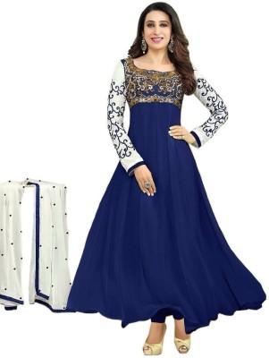Emporiodeals Georgette Self Design Semi-stitched Salwar Suit Dupatta Material