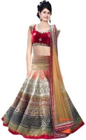 Vd Fashion Chaniya, Ghagra Cholis - VD Fashion Embroidered Women's Lehenga, Choli and Dupatta Set(Stitched)