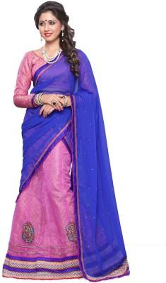 Prachi Silk Mills Embellished Women's Lehenga, Choli and Dupatta Set