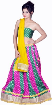 Tehzeeb Self Design Womens Lehenga, Choli and Dupatta Set