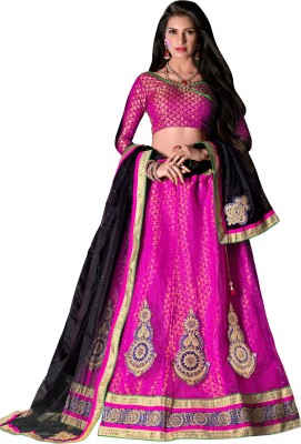 Manthan Embroidered Women's Lehenga, Choli and Dupatta Set(Stitched) at flipkart