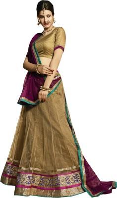 Heaven Deal Embroidered Women's Lehenga, Choli and Dupatta Set