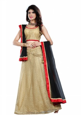 Fashionuma Embroidered Women's Lehenga, Choli and Dupatta Set