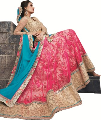 Kataria Fabrics Self Design Women's Lehenga, Choli and Dupatta Set