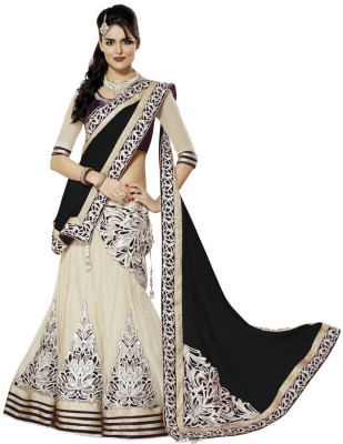 RB Fashion Embroidered Women's Lehenga, Choli and Dupatta Set