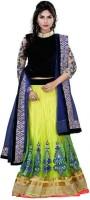 Fexy Chaniya, Ghagra Cholis - Fexy Embroidered Women's Lehenga, Choli and Dupatta Set(Stitched)
