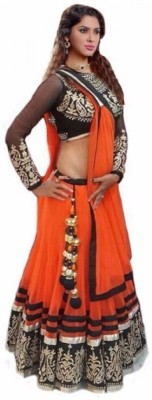 A3 Fashion Embroidered Women's Lehenga, Choli and Dupatta Set