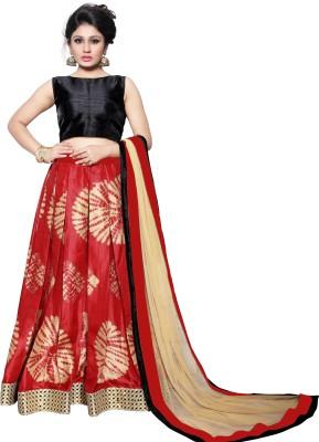The Four Hundred Self Design Women's Lehenga, Choli and Dupatta Set
