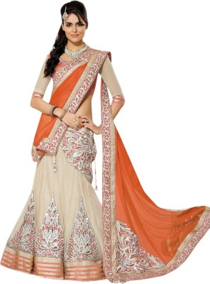Apka Apna Fashion Embroidered Women's Lehenga, Choli and Dupatta Set