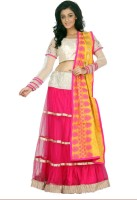 Saraogis Chaniya, Ghagra Cholis - Saraogi's Self Design, Solid Women's Ghagra Choli(Stitched)