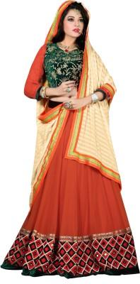 Trendz Apparels Embroidered Women's Lehenga, Choli and Dupatta Set