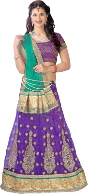 Aastha Sarees Solid Women's Lehenga, Choli and Dupatta Set