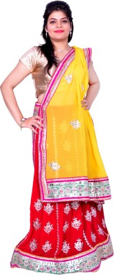 Prishi Impex Self Design Women's Lehenga, Choli and Dupatta Set