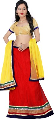 Shop clothy Self Design Women's Lehenga, Choli and Dupatta Set