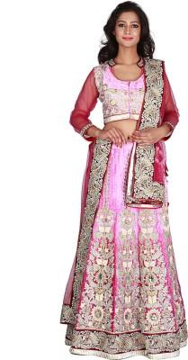 Jugniji Embroidered Women's Lehenga, Choli and Dupatta Set