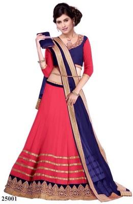 F3 Fashion Self Design Women's Lehenga Choli(Stitched) at flipkart