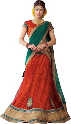 Melluha Self Design Women's Lehenga, Choli and Dupatta Set