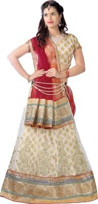 Aastha Sarees Solid Women's Lehenga, Choli and Dupatta Set