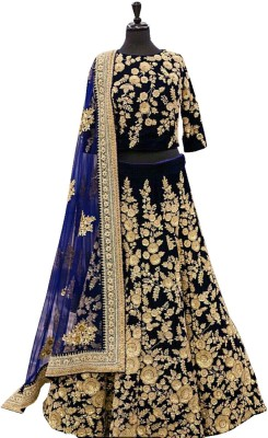 Lotusdlady Embroidered, Self Design Women's Lehenga, Choli and Dupatta Set