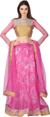 Bhelpuri Embroidered Women's Lehenga, Choli and Dupatta Set