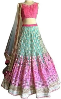 Suitevilla Embroidered Women's Lehenga, Choli and Dupatta Set
