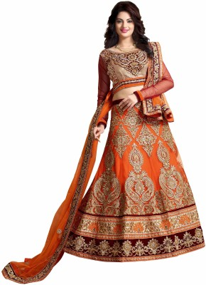 Panth Design Self Design Women's Lehenga, Choli and Dupatta Set