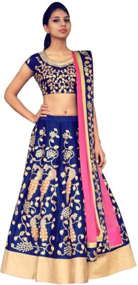Fabron Embroidered Womens Lehenga, Choli and Dupatta Set