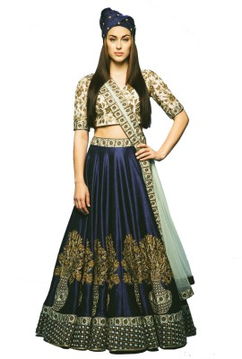 Jassu Fashion Hub Embroidered Women's Lehenga, Choli and Dupatta Set(Stitched) at flipkart
