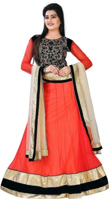 Panchi Embroidered Women's Lehenga, Choli and Dupatta Set