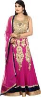 Libass Chaniya, Ghagra Cholis - Libass Applique Women's Lehenga, Choli and Dupatta Set(Stitched)
