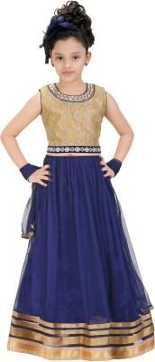 Trendyy Girls Self Design Girl's Lehenga Choli