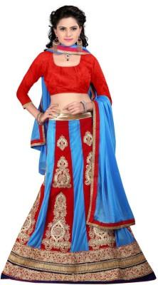 Moni Fashion Embroidered Women's Lehenga, Choli and Dupatta Set